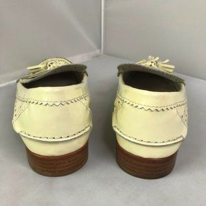 Coach Shoes - Coach Yellow Patent Leather Loafer Tassel Flats